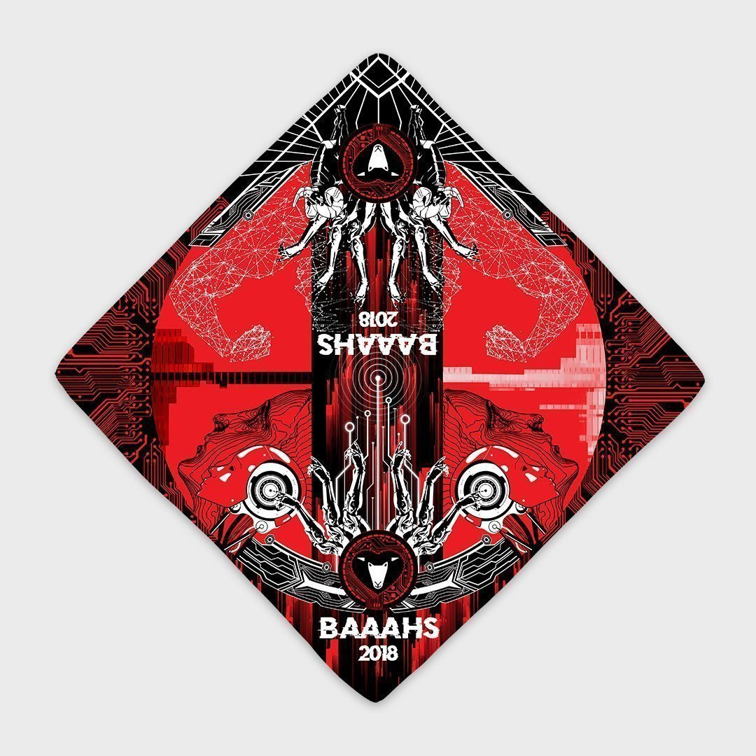 Custom Bandanas All Over Print Red Black