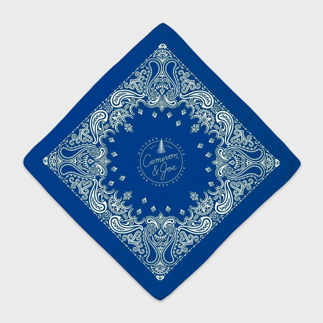 Custom Bandanas Printed by Printology Blue