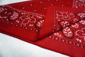This is a Custom Double-Sided Bandana Printed by Printology