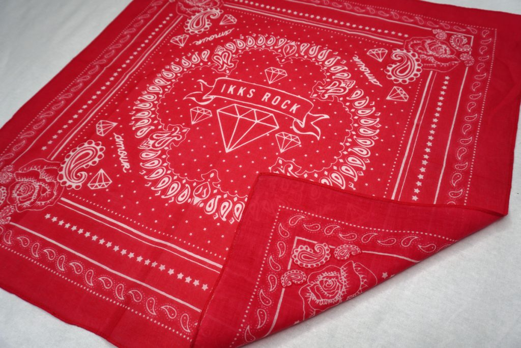 Red Custom Double-Sided Bandana Printed by Printology