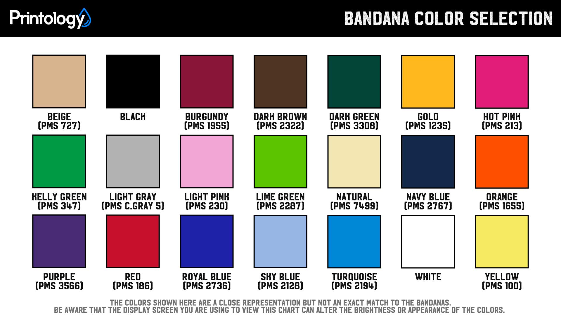 Custom Bandana Color Selection